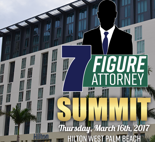 Detailed Agenda for 7 Figure Attorney Released